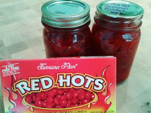 Canning Homemade!: Paula's Red Hot Cinnamon Cucumber Pickles
