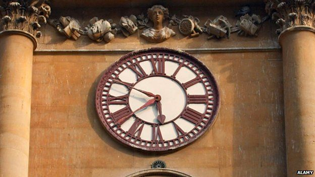 The Dean of Exeter stoutly refused to adjust the Exeter Cathedral clock to meet the demands of the railway company. In Bristol a compromise was found: two minute hands, one showing local time, the other Railway Time.