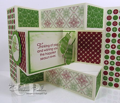 Tri Fold Shutter Card Video Tutorial using Stampin' Up supplies.  http://www.catherinepooler.com/2012/10/tri-fold-shutter-card-video-tutorial-fancy-fold-card-for-anna-and-nathan/