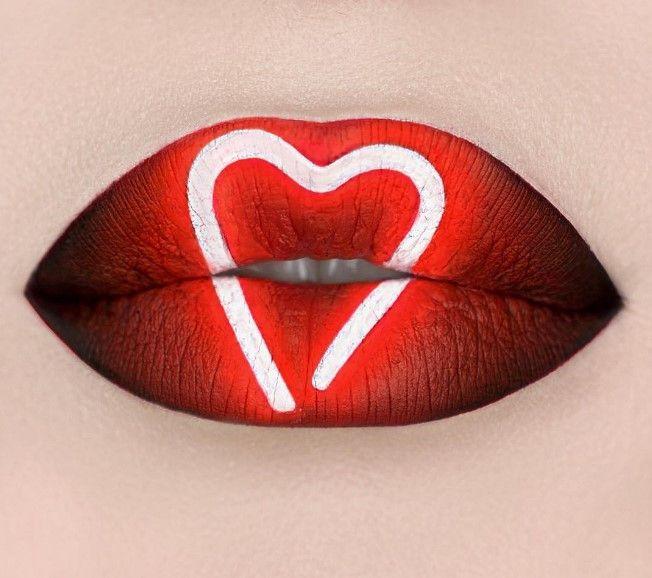 Неоновые губы, сердце