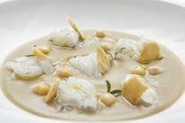Calamari crudi e crema di ceci Chef N. Baretti