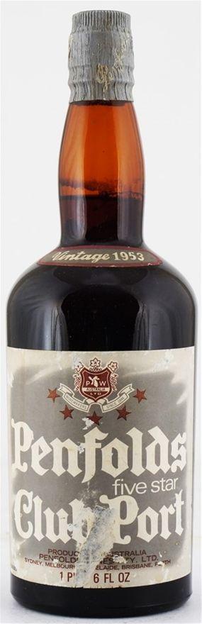 Penfolds `Club Port` Old Tawny 1953 (1 x 750mL), Barossa, SA.