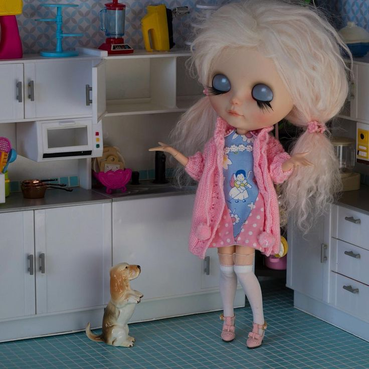 """105 Likes, 16 Comments - Eenie Q (@eenieqdolls) on Instagram: """"Little Miss Hubbard Went to the cupboard To get her glass dog a bone; But when she came there The…"""""""