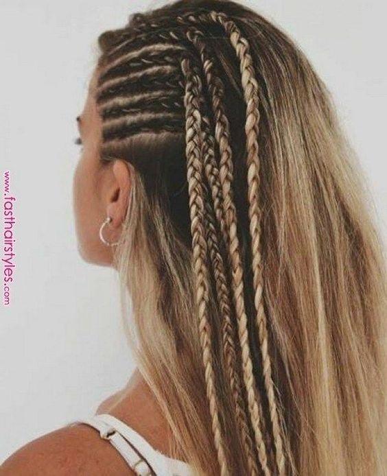 10 Moderne Seite Braid Frisuren für Frauen | #fri…