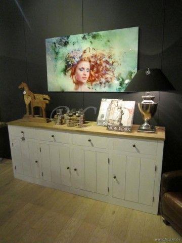 "PR Interiors Alice dressoir in wit geschilderde eik en wheathered oak top blad 220<span style=""font-size: 0.01pt;""> PR-Rogiers-Home-Interiors-CHR/222/13 dressoir-buffet-dressoir-buffet-buffets-bahut-bahuts-buffetten-dressoirs-dresso </span>"