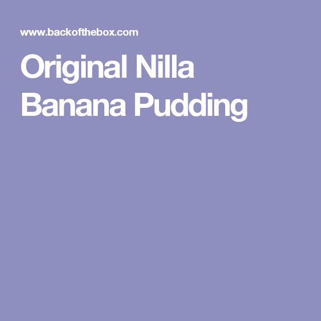 Original Nilla Banana Pudding