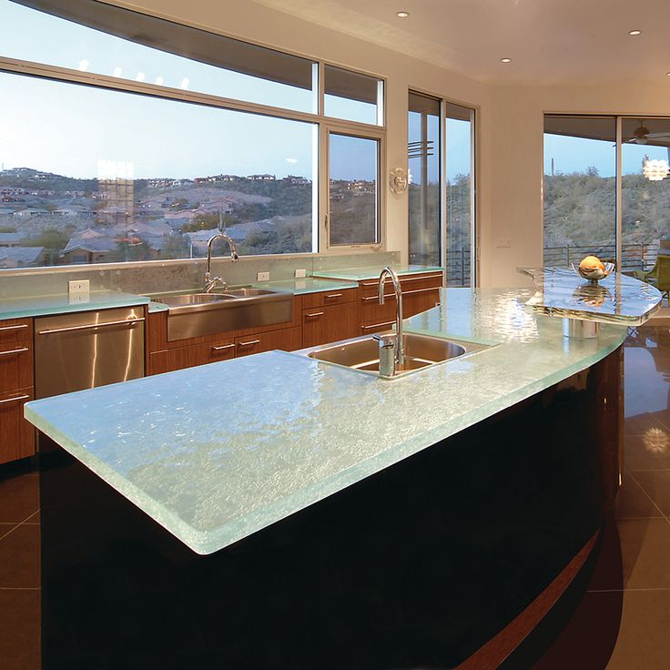 56 Best Unique Glass Kitchen Counter And Island Tops