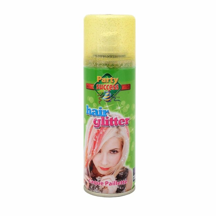 Wash Out Gold Glitter Temporary Hair Coloured Party Sprays