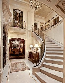 French Limestone: Architectural Stone - traditional - staircase - orange county - by Monarch Stone International