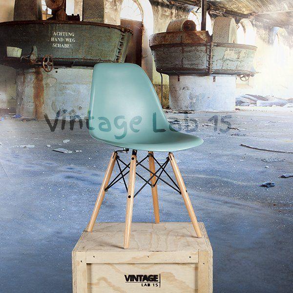 Eetkamerstoelen : DSW style stoel petrol - Vintagelab15.com