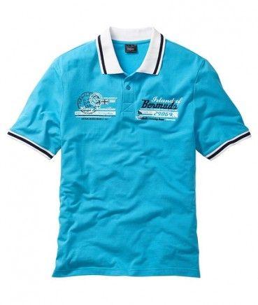 Tricouri ieftine: Tricou barbati polo turcoaz bpc