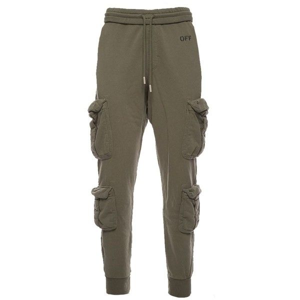 Trousers ($350) ❤ liked on Polyvore featuring men's fashion, men's clothing, men's pants, men's casual pants, verde, mens cargo pants, mens cotton pants, mens zip off cargo pants, mens elastic waist pants and mens zip off pants