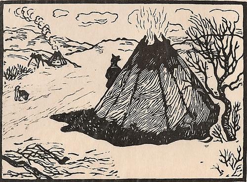 John Savio, Godvær, woodcut