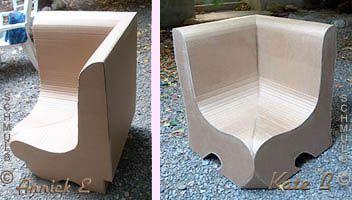 Fauteuil d'angle en carton