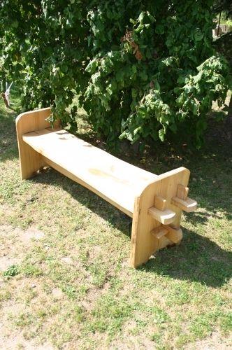 Mittelalter Holzbank - Lärche