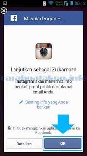 Panduan lengkap dengan gambar bagaimana cara buat akun instagram menggunakan login akun facebook
