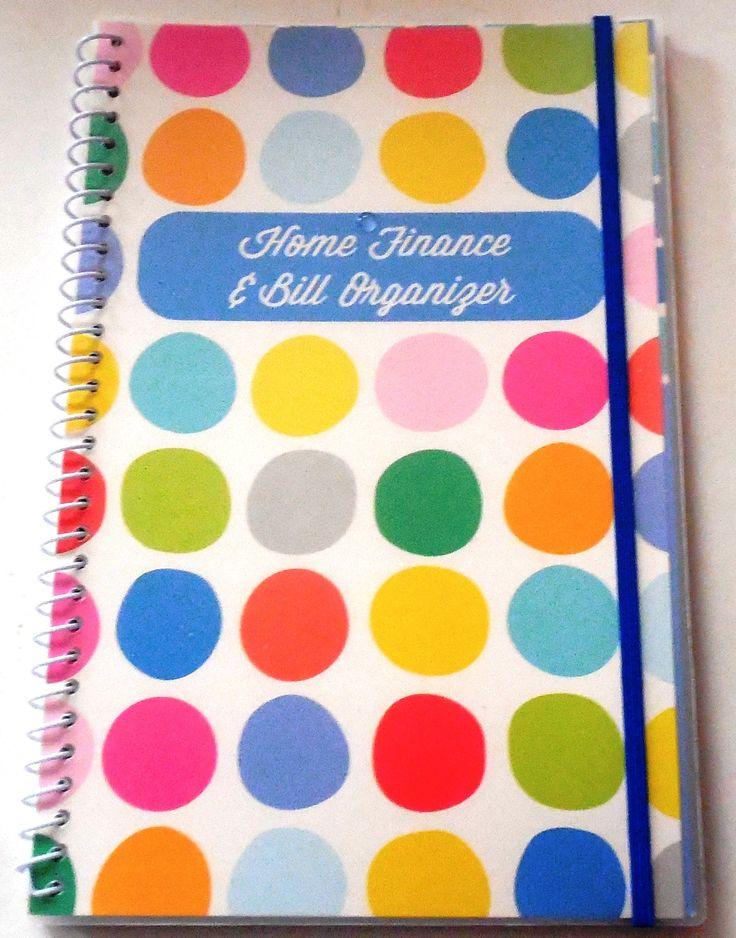 Amazon.com : Bill Organizer And Home Finance Organizer With Pockets (Polka  Dots)