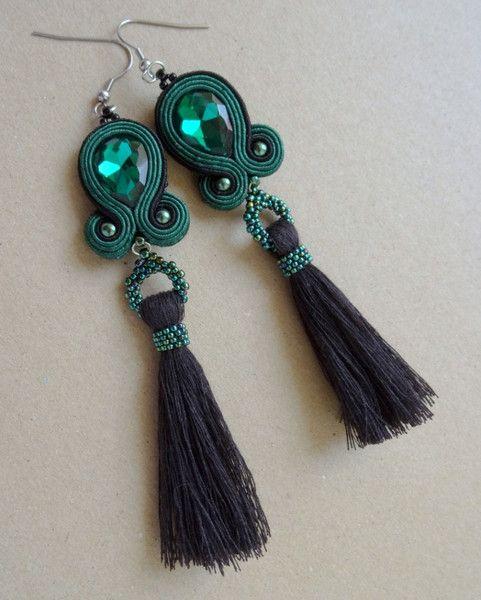 Soutache earrings with tassel