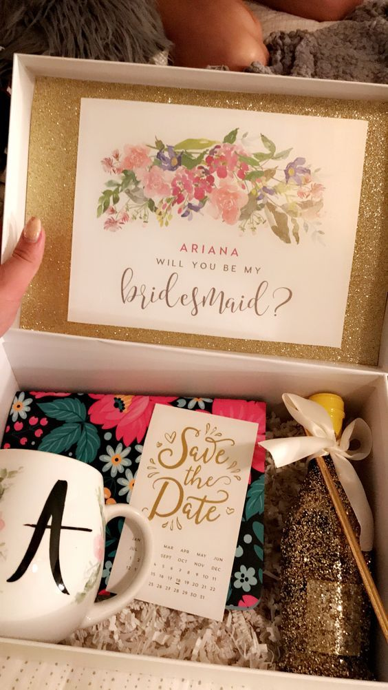 Perfect bridesmaid proposal box