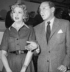 Jack Benny & Only Wife of 47 Years, Mary Livingstone, they had One Daughter. This Photo in 1960.