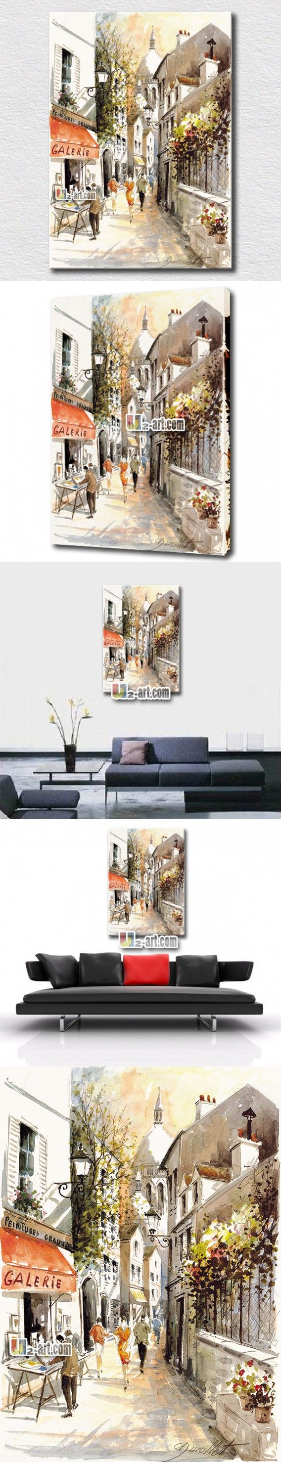 Mediterranean landscape oil painting simple style scenery prints on canvas art for home decoration $11.76