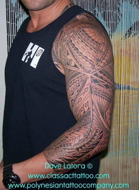 #polynesiantattoo Polynesian Tattoo sleeve