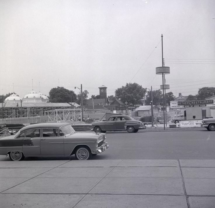 Construction of the Queen Elizabeth Building, 1956.