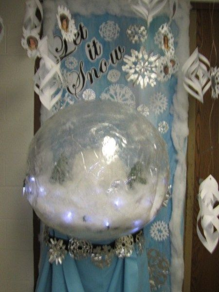 Christmas Door Decorating Ideas Snow Globe : Best images about holiday door on cut paper