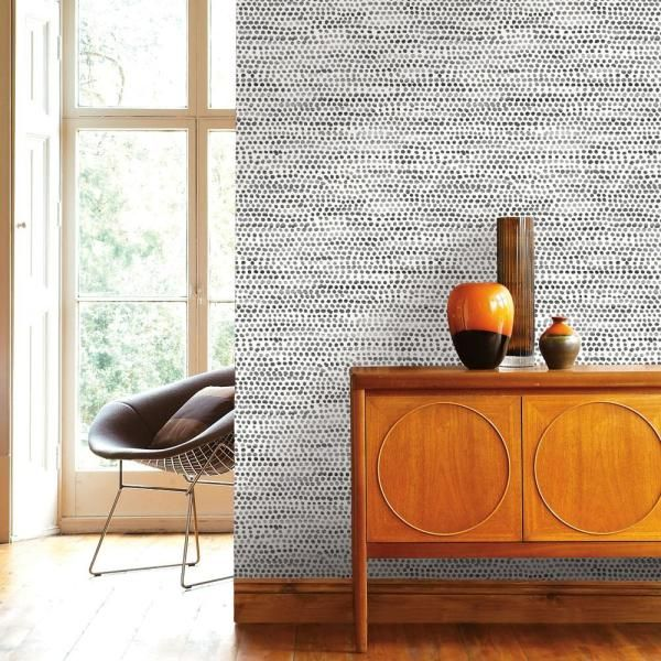 Tempaper Moire Dots Vinyl Peelable Roll Covers 28 Sq Ft Md10642 The Home Depot Removable Wallpaper Peel And Stick Wallpaper Wallpaper Roll