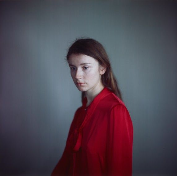Tatiana in her red shirt (1), 2013, camera obscura Ilfochrome photograph