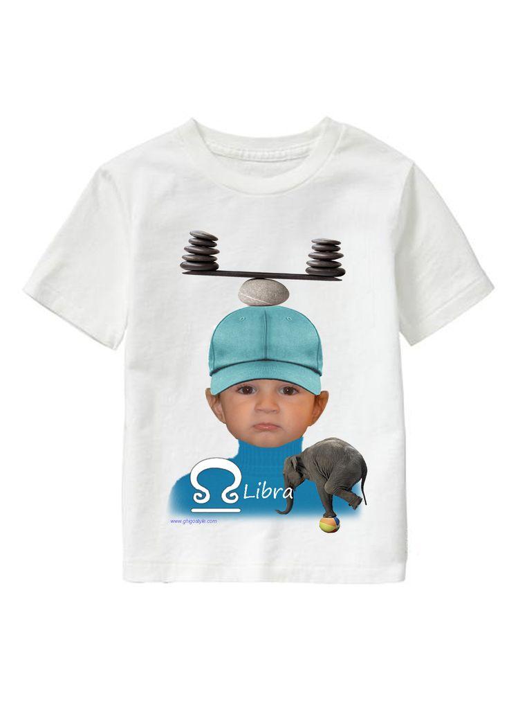 Libra Boy personalized T-shirt www.ghigostyle.com