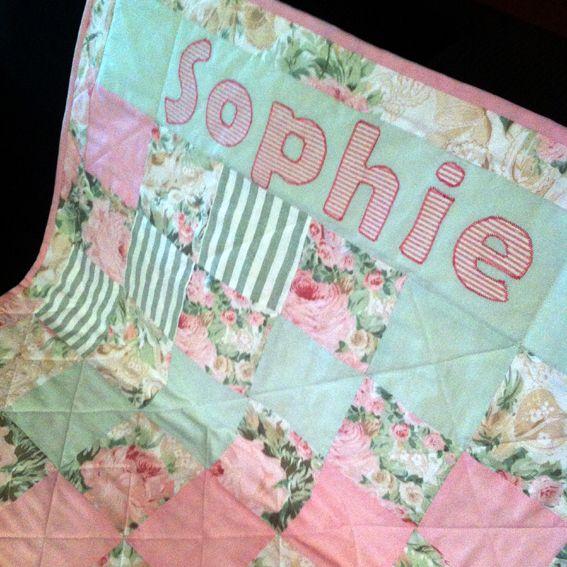 Custom order for baby named Sophie.