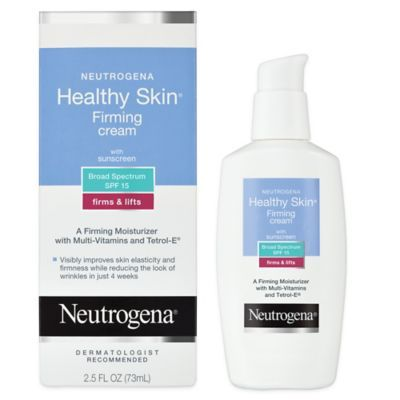 Neutrogena Healthy Skin Firming Cream with Broad Spectrum SPF 15 was formulated to help tighten the look of skin and reduce the appearance of fine lines and wrinkles. This lightweight cream helps improve skin's elasticity for a more youthful appearance.