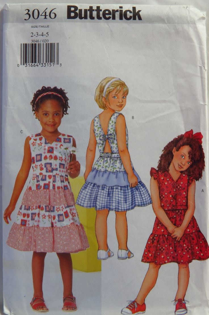 58 best Butterick Girls\'/Toddlers\'/Babies\' Sewing Pattern Collection ...
