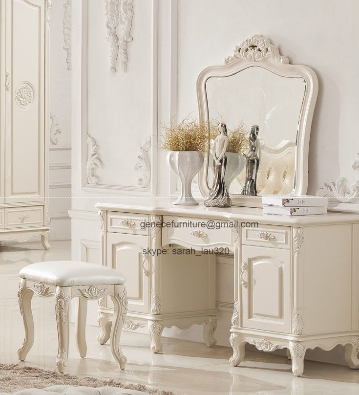 antique white dresser table dresser stool with mirror dressing table home decor. Black Bedroom Furniture Sets. Home Design Ideas