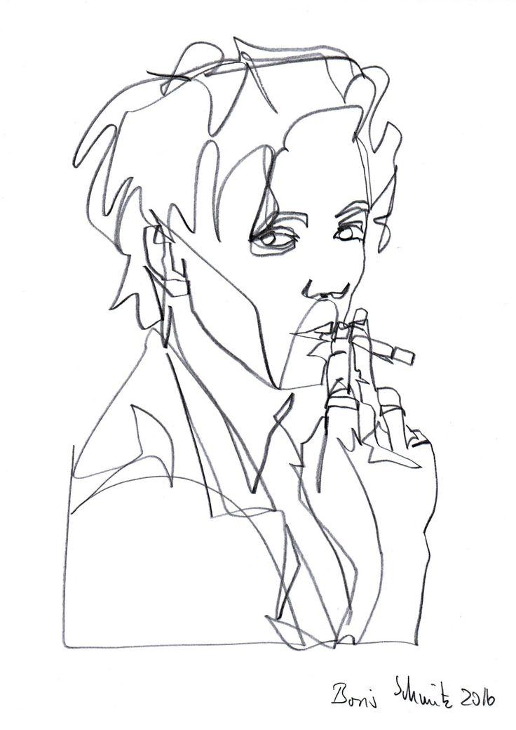 Famous Continuous Line Artists : Best kunstprojekt images on pinterest line drawings