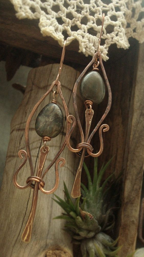 Arcana - Wire Sculpted Earrings. $39.00, via Etsy.