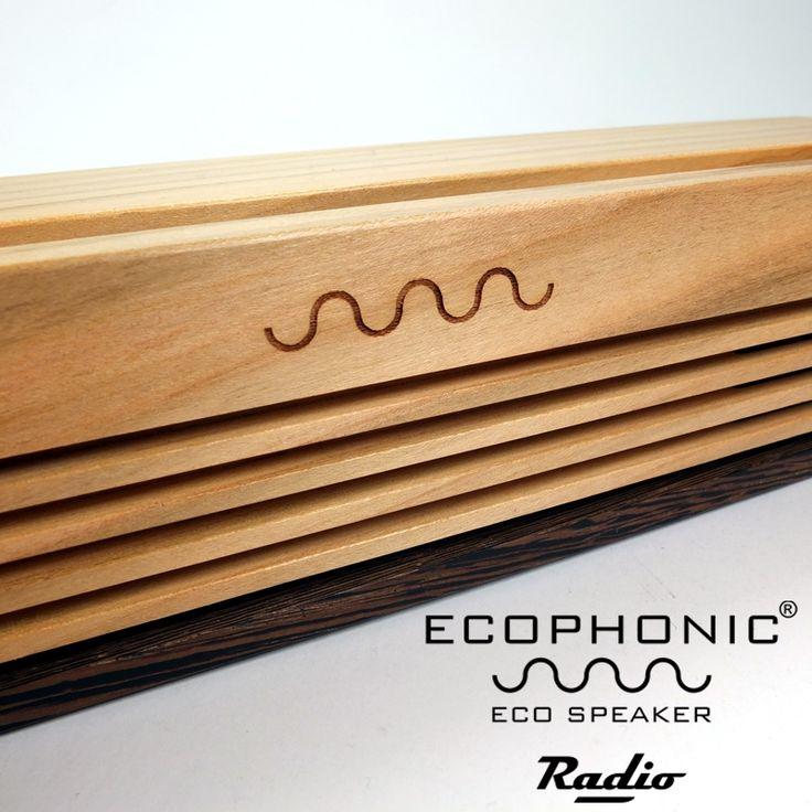Radio en madera de cerezo