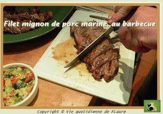 Filet mignon de porc mariné, au barbecue