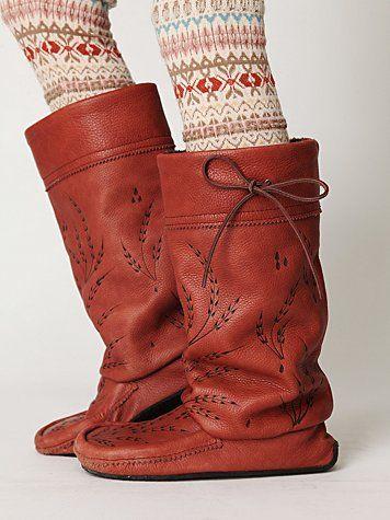 Free People mukluk boots...