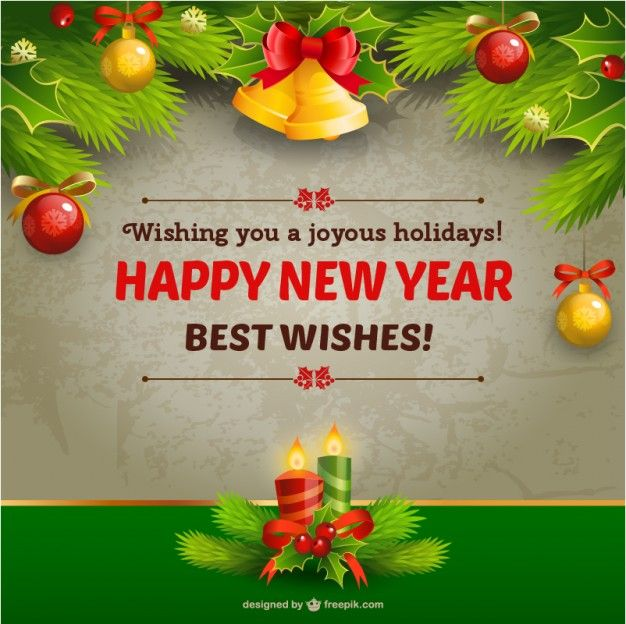 64 best Happy New Year Free Vector images on Pinterest Happy - new year greeting card template