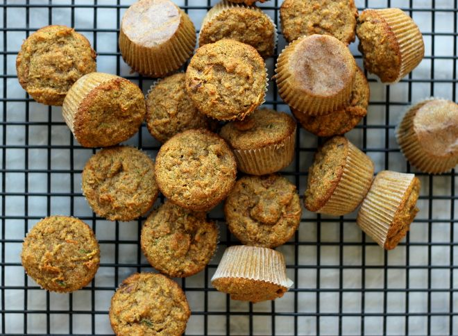 Carrot Zucchini Toddler Muffins! Kids and adults both love these lightly sweet and perfectly moist muffins. (Gluten, Dairy, and Refined-Sugar-Free!)