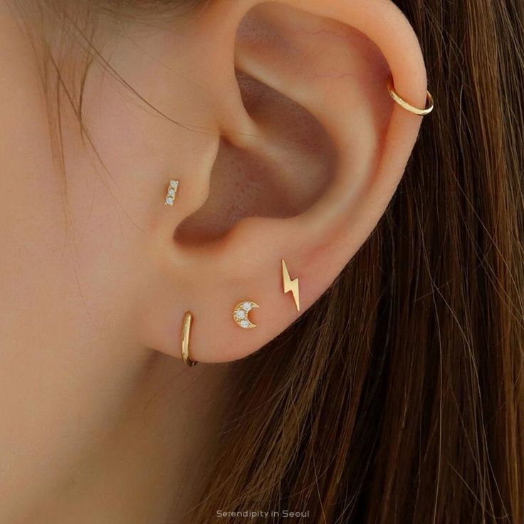 Slim Fit Jeans Fur Damen Ear Piercing For Women Ear Piercings