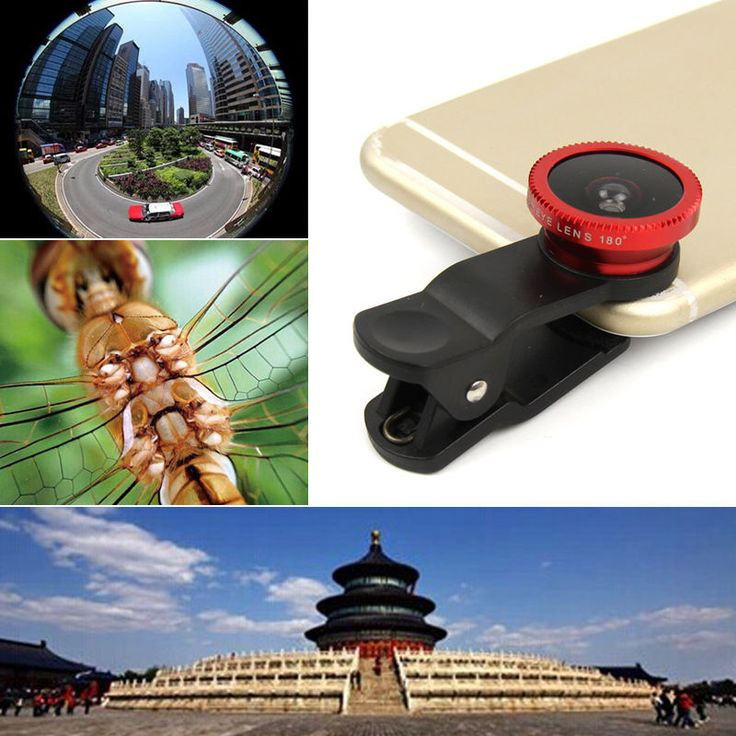 Universal 3in1 Clip On Camera Lens Kit Fisheye +Wide Angle +Macro for Cell Phone #Unbranded