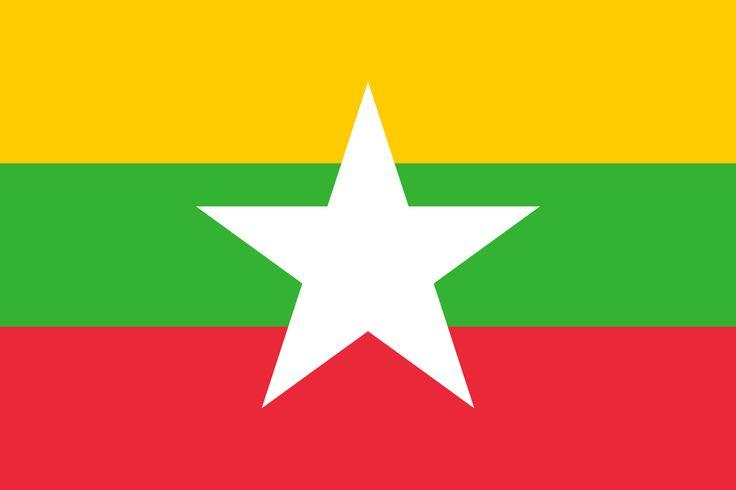 Flag of Myanmar - Bandeiras da Ásia – Wikipédia, a enciclopédia livre