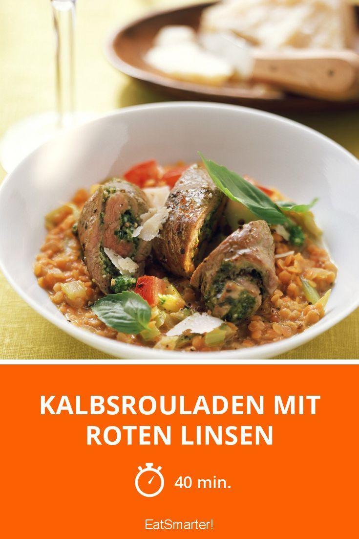 Kalbsrouladen mit roten Linsen - smarter - Zeit: 40 Min. | eatsmarter.de