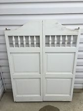 Saloon Doors Swinging Wooden Pub Bar Western Cafe Tavern Shutter Shabby Louvered