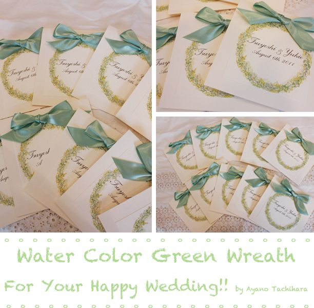 original water color paper item by AYANO TACHIHARA Wedding Design