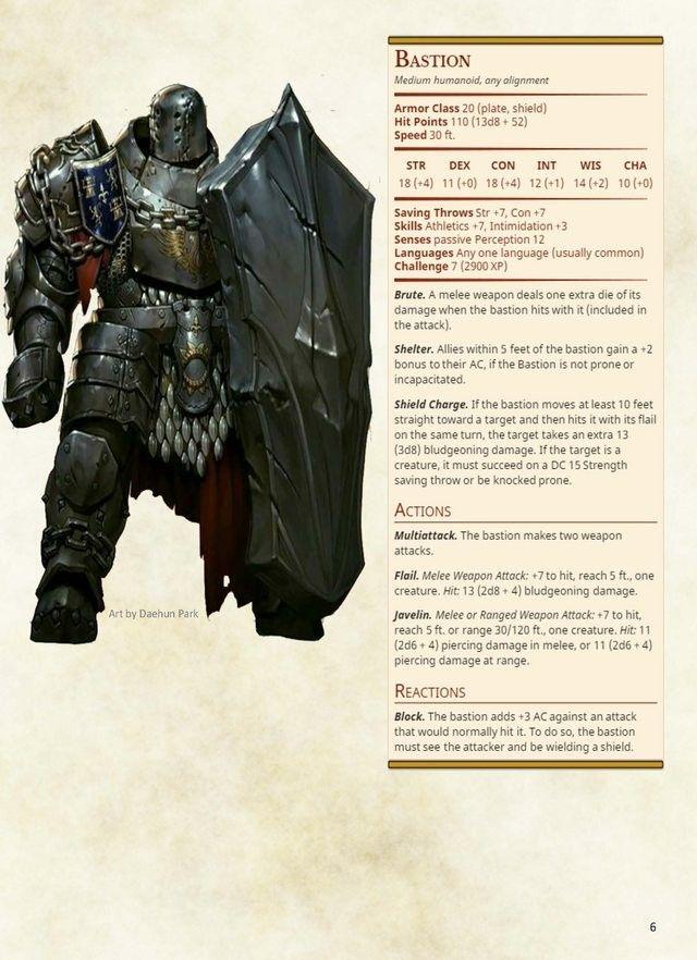 Evil knight defender stats CP 7. Guard