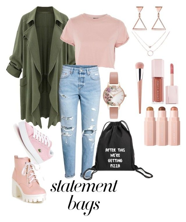 """Beauty Rose"" by malumasbaby on Polyvore featuring Mode, Topshop, H&M, Lacoste, Olivia Burton und Puma"